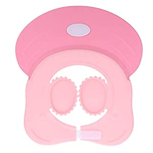 Kisangel Baby Shower Cap with Ear Protection for Bathing Washing Hair, Adjustable Safe Waterproof Shampoo Shower Cap for…