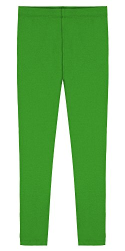 (Popular Big Girl's Cotton Ankle Length Leggings - Green - Size 12 / Tag Size X-Large )