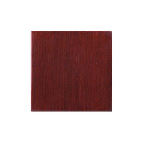 Flash Furniture 24'' Square High-Gloss Mahogany Resin Table Top with 2'' Thick - Mahogany Resin