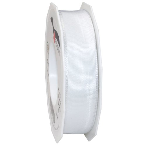 Morex Ribbon French Wired Lyon Ribbon, 1-Inch by 27-Yard Spool, White