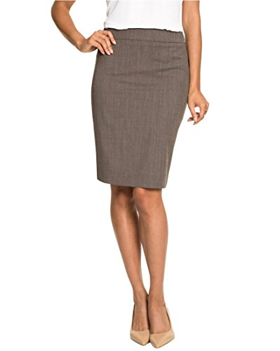 LE CHÂTEAU Wool Blend Peplum Pencil Skirt,8,Taupe