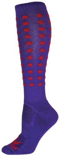 Red Lion Mini Dots Zany Performance Socks ( Purple / Red - Small )