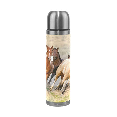 - Dragon Sword Running Horses Double Wall Vacuum Cup Insulated Stainless Steel Water Bottle Travel Mug Thermos Coffee Cup 17 oz
