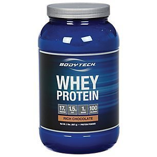 BodyTech Whey Protein Powder with 17 Grams of Protein per Serving Amino Acids Ideal for PostWorkout Muscle Building, Contains Milk Soy Rich Chocolate (2 Pound)