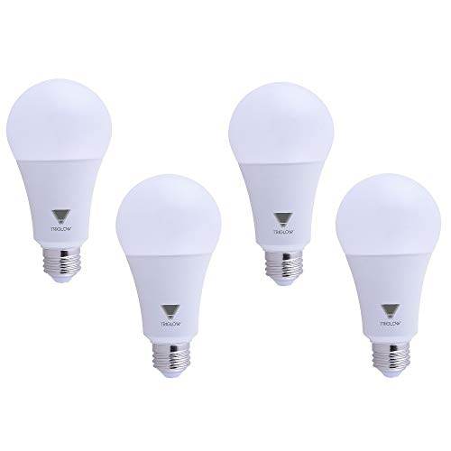 TriGlow T95441-4 (4-Pack) 22-Watt (150/200 Watt Equivalent) LED A21 Bulb, DIMMABLE 3000K (Soft White Color) 2550 Lumens, UL Listed ()