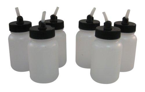 Badger Air-Brush Co. 51-0055B 3-Ounce Plastic Jar with Adaptor, Box of 6