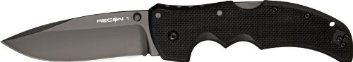 Cold Steel Recon 1 Spear Point Plain Edge Tactical Folder Knife, Outdoor Stuffs