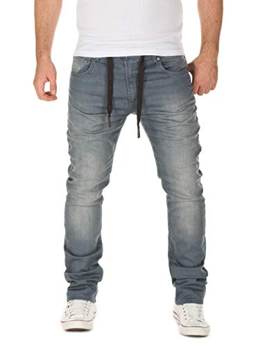 Used, WOTEGA Men's Sweatpants in Jeans-Look Noah Slim, Grey for sale  Delivered anywhere in USA