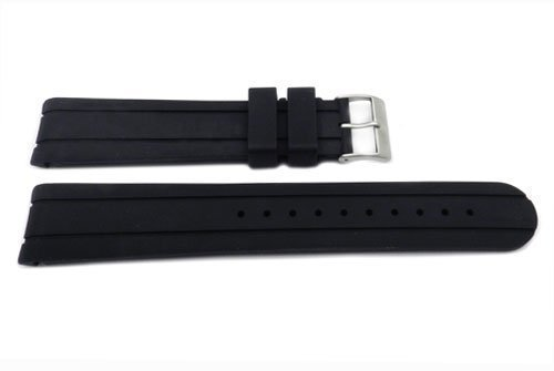 Swiss Army Brand Black Officer's Chrono 20mm Watch Band