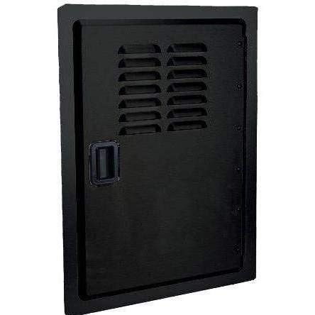- Fire Magic Legacy 14-Inch Black Louvered Single Access Door - Vertical - 23920-1