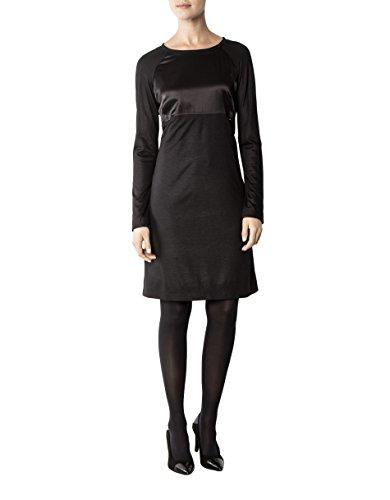 36 Farbe Mikrofaser Unifarben Cidura Kleid Größe Dress CINQUE Schwarz Damen gwq00f1