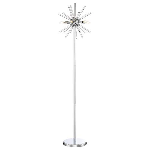 George Kovacs Chrome Floor Lamp - George Kovacs P1798-077-L Spiked Floor Lamp, 6-Light LED 24 Total Watts, Chrome