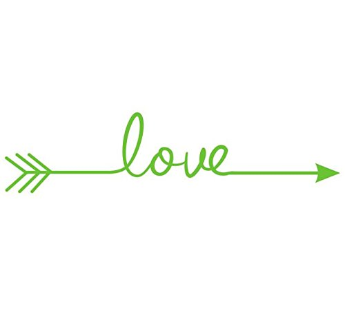 Woaills Geometric Love Arrow Wall Sticker, Removable Vinyl Carving Home Decoration Decal Living Room Bedroom (Green) ()