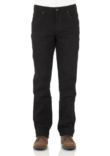 Wrangler - Jean coupe classique pour hommes (jambe droite) - 36W / 30L, noir (26T)