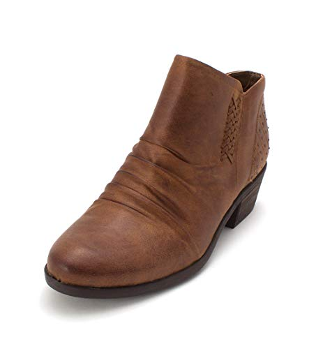 Price comparison product image BareTraps Womens Gericka Almond Toe Ankle Fashion Boots,  Auburn,  Size 7.5