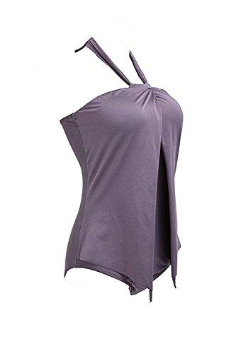 Monokini Estate Costumi Swimsuit Halterneck Minetom Unico da Donna Perizoma Swimwear Pezzo Beachwear Caff Sexy Bagno Tankinis OT5f4q