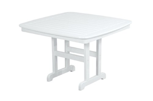 POLYWOOD NCT44WH Nautical Dining Table, 44-Inch, White Review