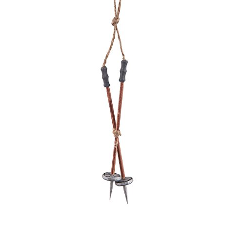 (GALLERIE II Vintage SKI Pole ORN Brown)