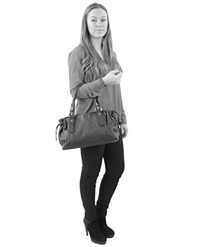 histoireDaccessoires - Bolso de Cuero de Mujer - SA096514RO-Luella GrisGris