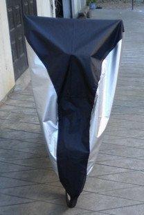 KLOUD City Silver & Black 190T nylon waterproof bike / bicycle cover (size: M)