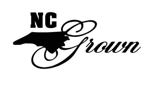 "North Carolina Grown Decal Sticker JDM Funny Vinyl Car Window Bumper Truck 7/"""