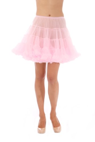 [Girls Luxury Petticoat, Poodle Skirt Costume, Crinoline Underskirt, Malco Modes Light Pink] (Poodle Skirt Set)
