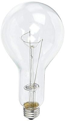 Sylvania 15740 300-Watt Incandescent, 5870 Lumens, E26 Medium Base, PS30 Shape Industrial Light Bulb, Clear Finish, 120V