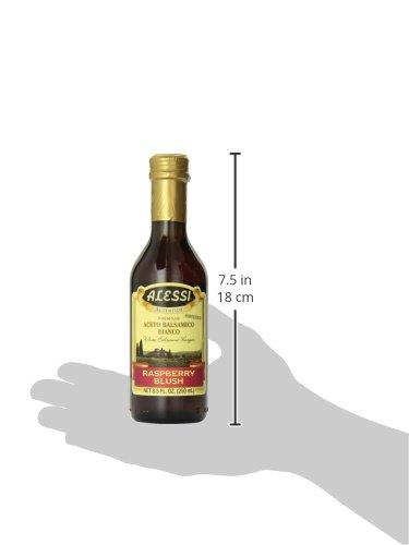 Alessi, White Balsamic Raspberry Vinegar, 8.50-Ounce (Pack of 6) 6 Alessi®.Autentico.White balsamic.Raspberry blush vinegar.