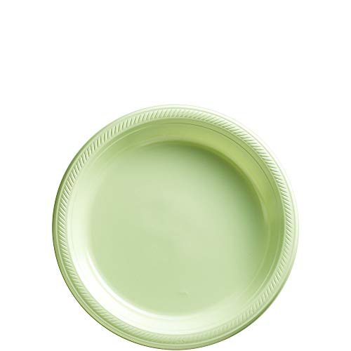 (Big Party Pack Leaf Green Plastic Plates | 7