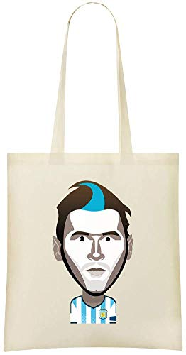For Use Printed Stylish Custom 100 Cotton Funny Custom Tote Grocery Eco Lionel Messi Shoulder Everyday amp; Bag Illustration Friendly Bags Handbag Soft H6aUIx