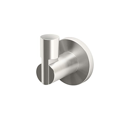Gatco 4695 Channel Single Robe Hook, Satin Nickel - Satin Nickel Modern Single