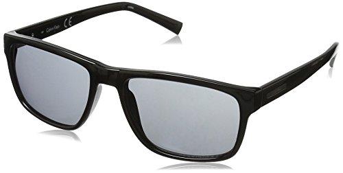 Calvin Klein Men's R738S Rectangular Sunglasses, Black, 57 ()