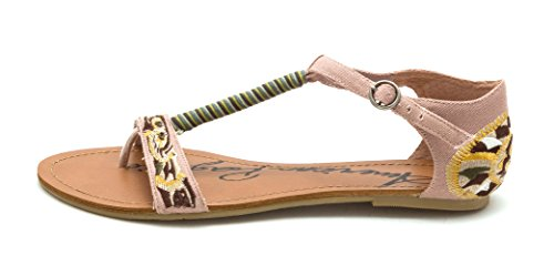 American Rag Womens Lilly Split Toe Casual T-Strap Sandals Blush BaRJZhI