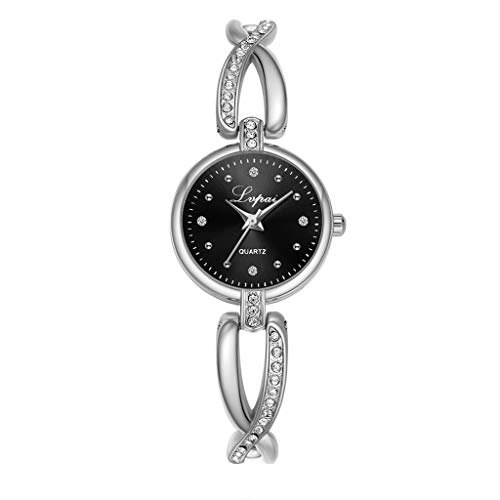 (LUCAMORE Women's Quartz Wrist Watch with Small Crystal Dial and Crisscross Bracelet Casual Dress Watches for Women)