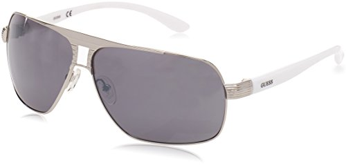 Guess Aviator Sunglasses - GU6512 10C - Shiny Dark Nickeltin/Smoke - Shades Guess Men For