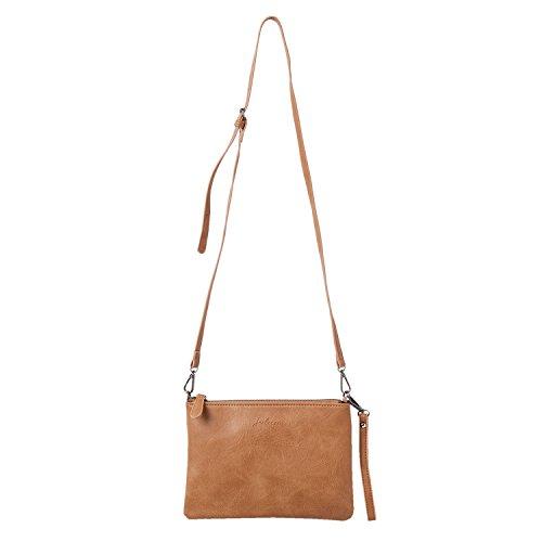 """Clayre & Eef JZBG0077CH Tasche Handtasche """"Alexia"""" braun 16x3x24 cm in Landhausstil, Vintage Deco"""