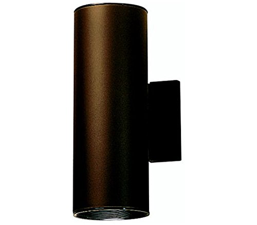 Kichler 9244AZ Outdoor Cylinder Wall Mount Sconce UpLight Downlight, Bronze 2-Light (5