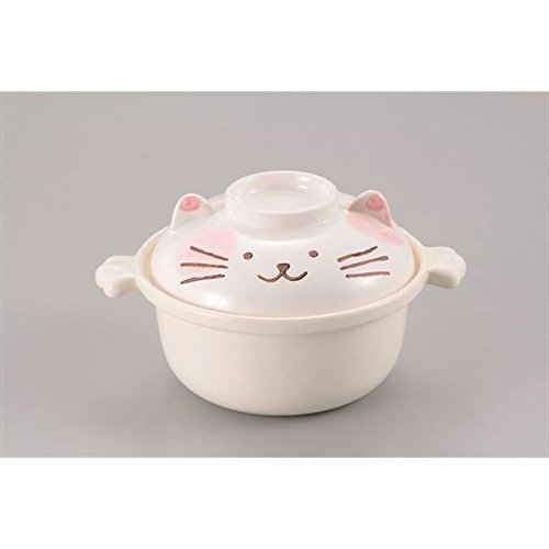Kakusee Cat type Japanese style pot for 1 person Grey 25-S-56 from Japan