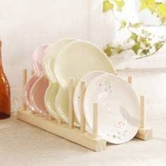 Solid Wood Plate Dish Drain Rack Tableware Shelf