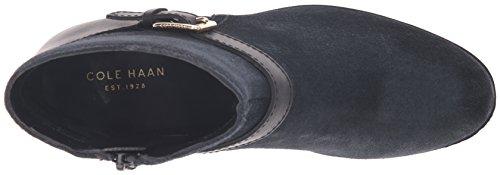 Cole Haan Womens Marla Wp Fotled Toffeln Svart Wp Mocka / Svart Läder