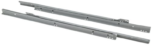 Steelex D4325 22-Inch Euro-Style Self-Closing Drawer Slides, Grey