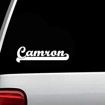 Camron Custom Cursive Last Name Personalized Custom Family Surname Decals Monogram