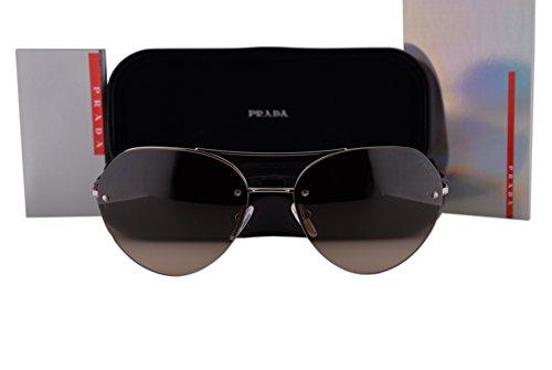 Prada PS57RS Sunglasses Gunmetal w/Brown Gradient Lens 5AV6S1 SPS - In David Glasses Beckham