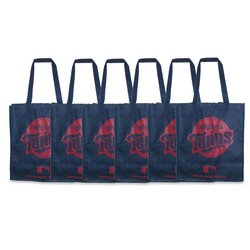 Minnesota Twins Printed Non-Woven Polypropylene Reusable Grocery Tote Bag (Minnesota Twins Bag)