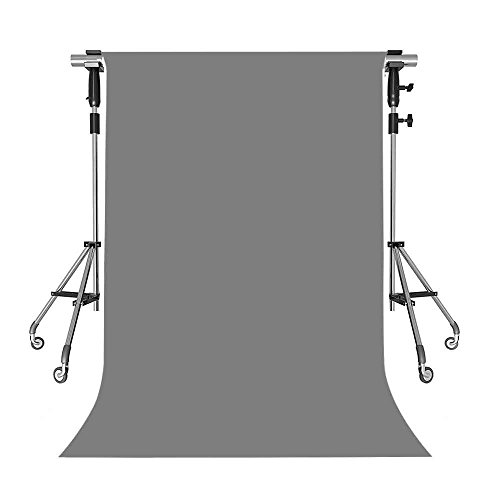MEETS 5x7ft MEETS 5x7ft Non-woven Fabric Backdrop Gray Simple Fashion Photography Background Studio Props Photo Booth YouTube Backdrop HUIWMT001