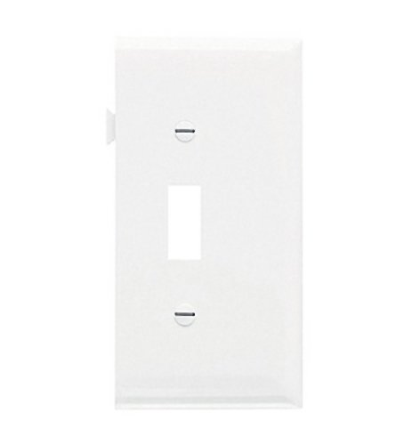 Legrand-Pass & Seymour PJSE1W Sectional Thermoplastic Wall Plate Junior Jumbo Toggle End Section, White ()