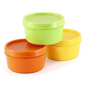 Lote de 3 Contenedores Portafruta en Plástico PP Libre de BPA de ...