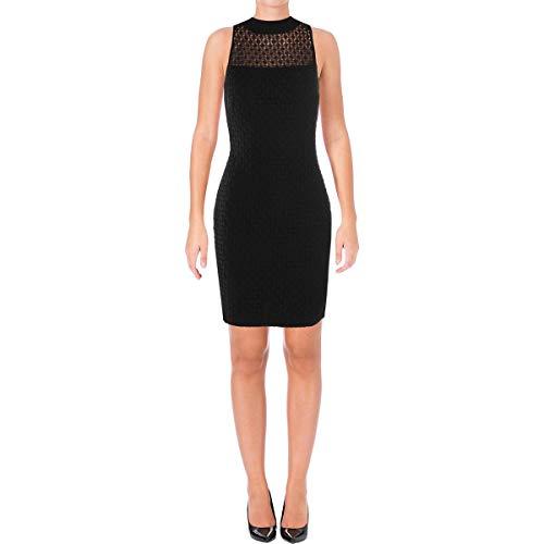LAUREN RALPH LAUREN Womens Eiriana Lace Sleeveless Cocktail Dress Black 4