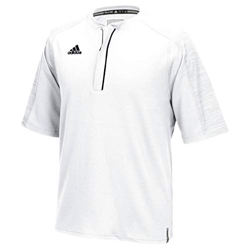 adidas Men's Climalite Modern Varsity Short Sleeve 1/4 Zip