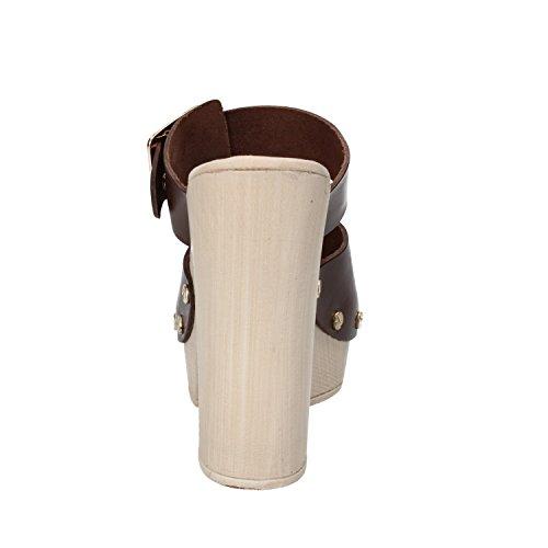 SUKY BRAND - Sandalias de vestir de Piel para mujer marrón marrón